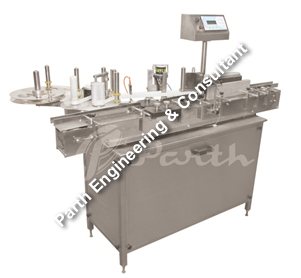 Automatic Vial Sticker Labeling Machine Model-PASAL-120