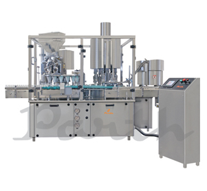 Automatic Rotary Dry Syrup Powder Filling Machine with Screw/ROPP Capping Machine Model-PRMF-120