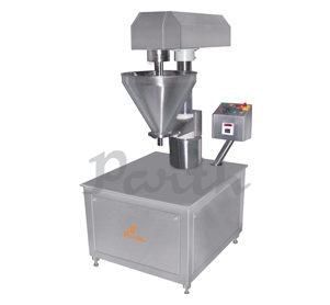 Semi Automatic Single Head Powder Filling Machine.