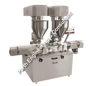 Automatic Double Head Auger type Powder Filling machine Model-PAPF-80