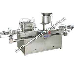 Automatic Twelve Head Vial Filling & Stoppering Machine Model-pavfrs-200
