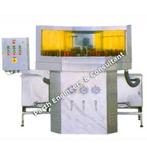 Rotary Semi Automatic Bottle Washing Machine Prwm-64,80,96