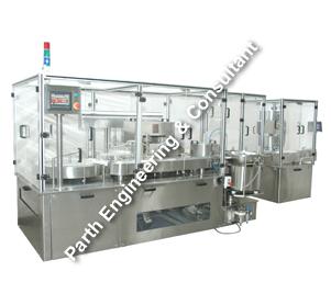 Servo Base Plc Control Vial Filling With Pick and Place type Stoppering Machine
