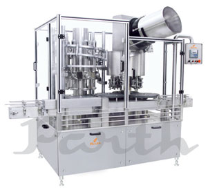 Rotary Volumetric Bottle Liquid Filling and ROPP Machine (Monobloc-8×8) Model-PRFS-8/8